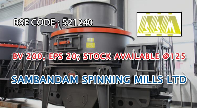 BV 200, EPS 20 - Stock Available @125 - SAMBANDAM SPINNING